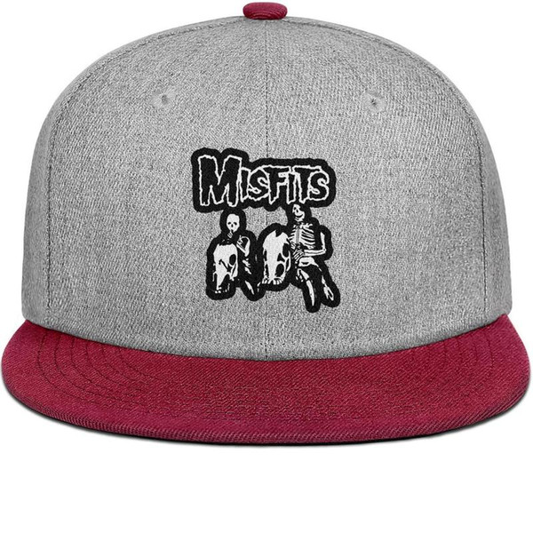 Custom fitted Men Women visor hat Misfits Wallpaper art Flat Brimmed Hip Hop Snapbacks hats Popular Military hat Outdoor