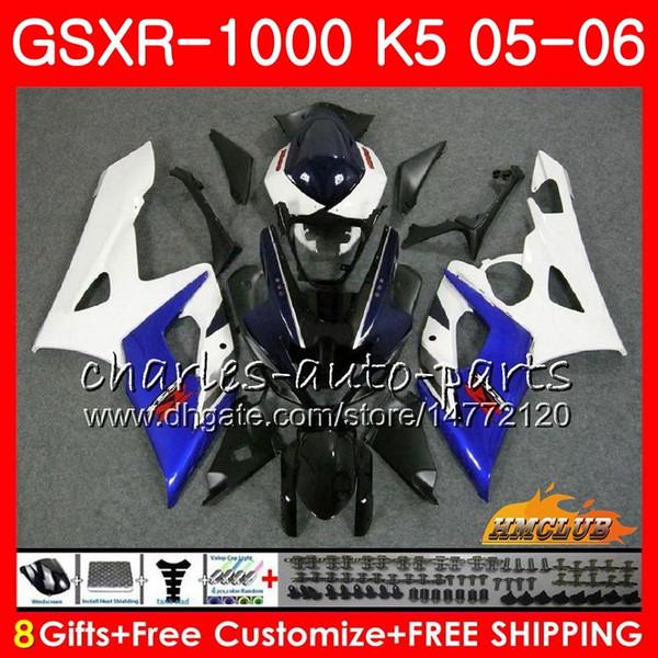 Kit+CowlForSUZUKIGSXR1000GSX-R1000GSXR1000blue white hot 20052006Body11HC.1GSXR-10000506K5BodyworkGSXR10000506Fairings