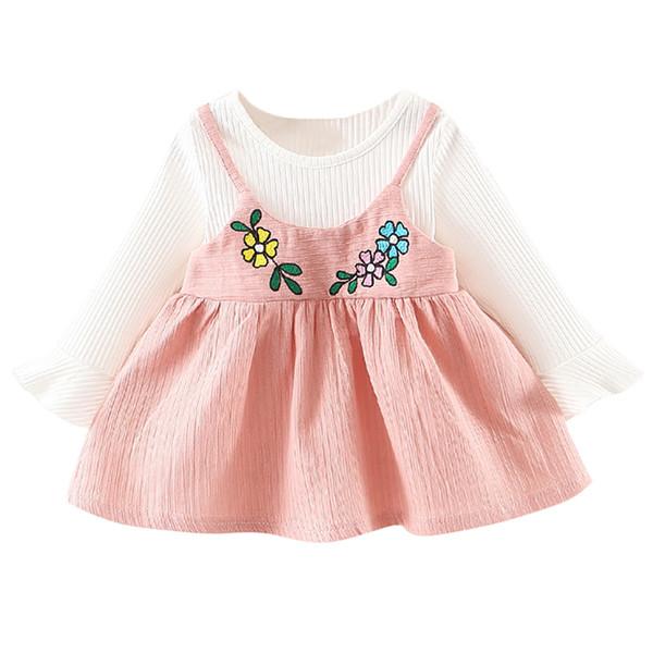 1PC Bébé Filles Vêtements enfants fille à manches longues robe Automne quotidien Party Robe