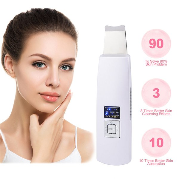 Ultrasonic Deep Face Cleaning Machine Skin Scrubber Remove Dirt Blackheads Reduce Wrinkles And Spots Facial Whitening Lifting