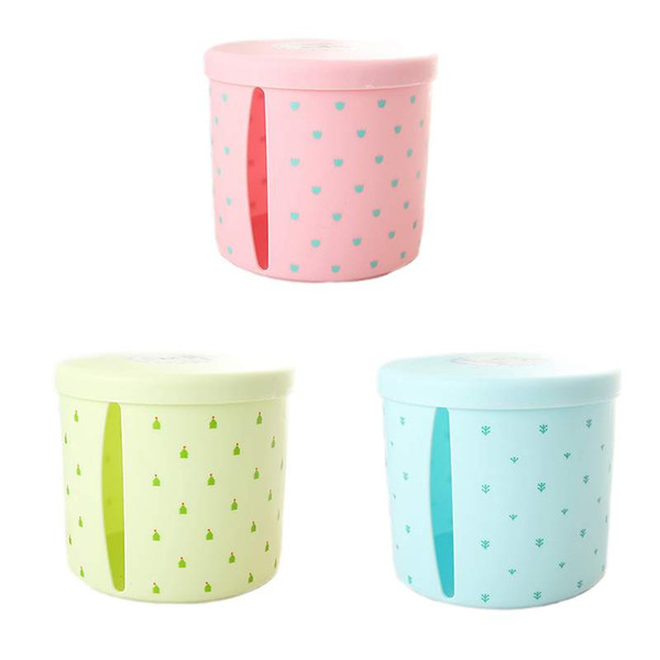 best selling 1pcs Removable Plastic Cute Tissue Box Holder Storage Organizer Round Toilet Bathroom Waterproof Paper Storage Rack Container