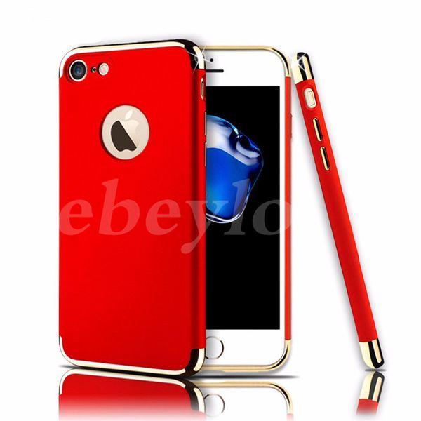 360 full body case für iphone 7 7 plus 3 in 1 abnehmbare überzug handy case für iphone 6 plus stoßfest handy abdeckung