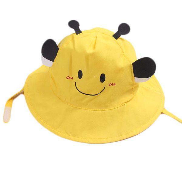 Wide Brim Baby Sun Hat Cotton Kids Cartoon Bucket Cap Summer Boys Girls Beach Travel Outdoor Sun Caps Fashion Casual Hats