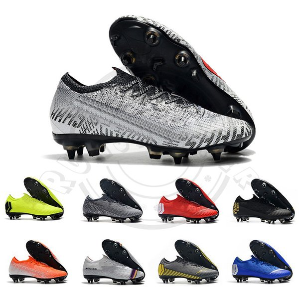 Mercurial Superfly Fury CR7 360 Elite FG KJ 6 2019 Mens calcio calza i morsetti Cool Grey Triple Nero Uomo Scarpe da calcio Outdoor Sports