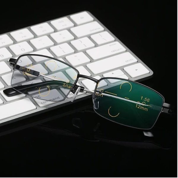 Intelligent zoom of multi-focus presbyopic glasses with blue light and radiation protection for men and women