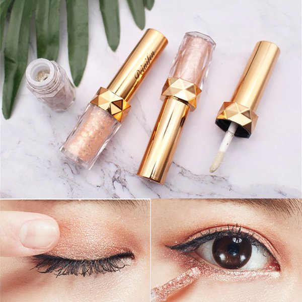 Portable 6 Colors Metallic Shiny Smoky Eyes Pearl Light Dumb Light Lasting Coloration Waterproof Glitter Glow Liquid Eyeshadow