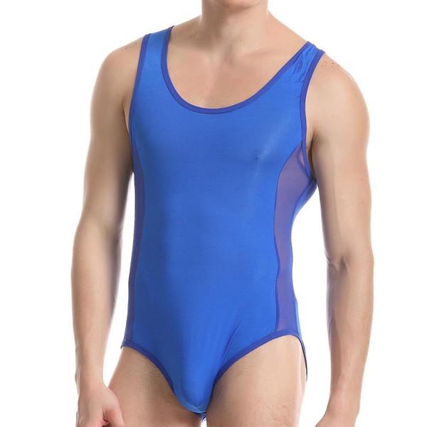 Sexy Mens Conjoined Shapers Transparent Mesh Body Shaper Men Underwear Mens Bodysuits