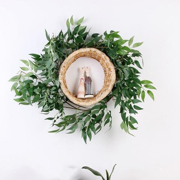 170 cm Düğün Yapay Söğüt Asma Tavan Dolambaçlı Yol Düzeni Rattan Otel Ev Dekorasyon Yapay Çiçekler Söğüt Çelenk