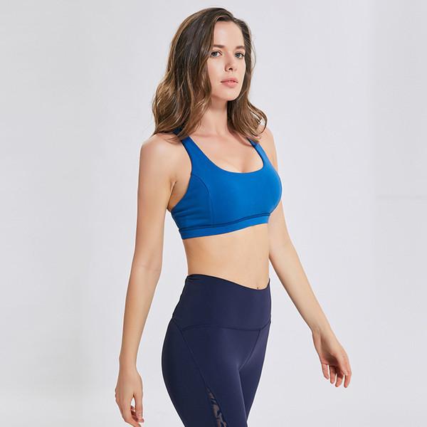 LU-50 Mulheres Sutiãs Esportivos Camisas Yoga Gym Vest Shakeproof Alça Ajustável Sutiã Push Up Tops De Fitness Sexy Underwear Lady Tops