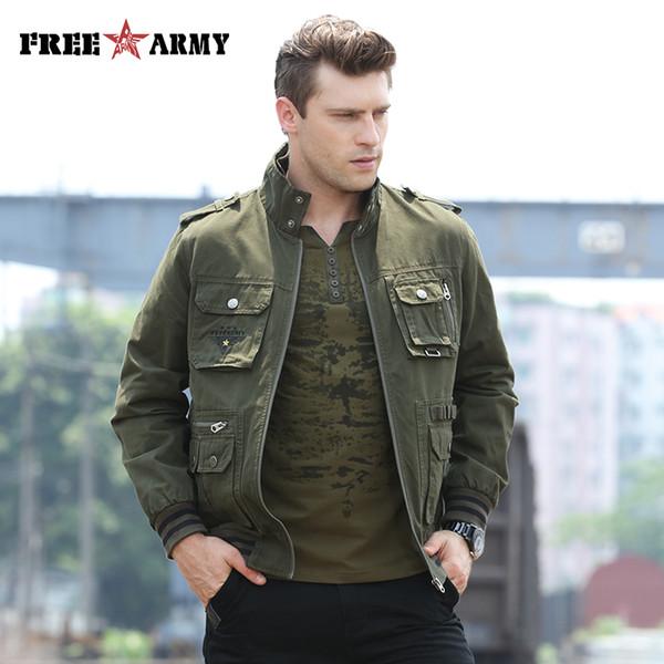 FREEARMY Brand Quality Jacket Men Jacket Windproof Army Flighting Wind Stopper Wind Bomber Men Ms-6280A