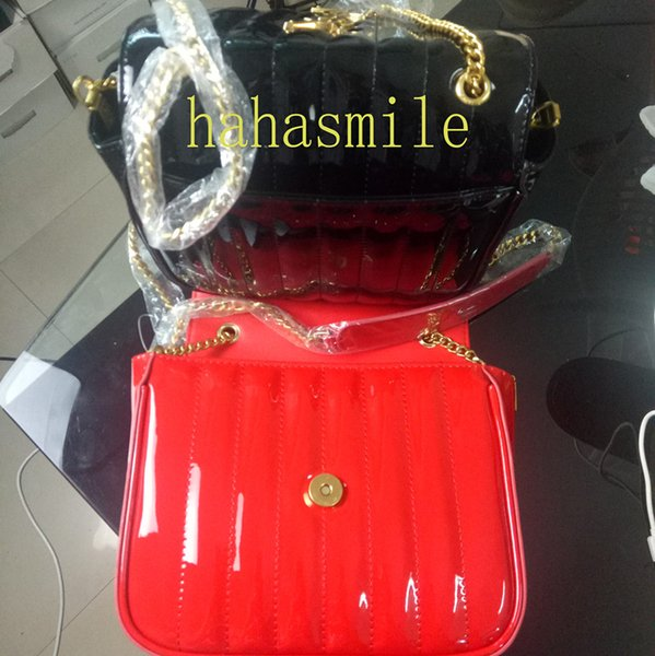 Большая вики цепь стеганая лакированная кожа женщины святой мешок роскошные дизайнерские композитные сумки диагональные сумки на ремне сумки камеры 532595
