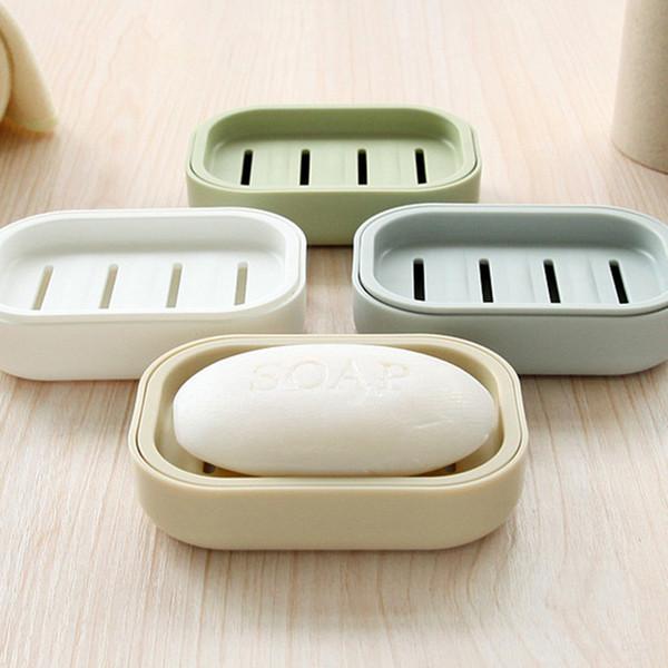 New Creative Soap Dish Double Draining Bathroom Nordic Style Plastic Soap Holder Non-slip Soap Box