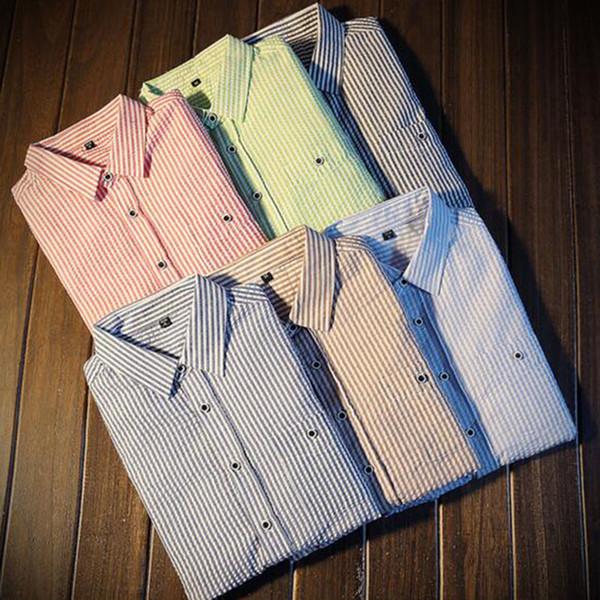 Мужчины С Длинным Рукавом Плед Печатных Повседневная Рубашки Camisa,Чистый Хлопок Оксфорд Дышащий Мягкие Рубашки Slim Fit Конфеты Цвет Высокое Качество