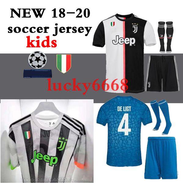 18 19 20 kid kit ock home occer jer ey 2018 2019 2020 ronaldo dybala higuain away third 3rd football hirt d co ta pjanic boy