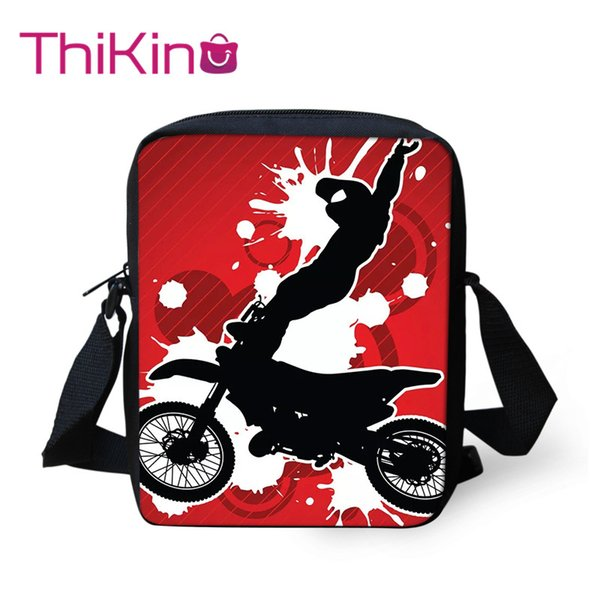 Thikin Got Dirt Bike Motorcross Racing Épaule School Messenger Bag Enfants Crossbody Cartable Filles Sacs Mochila Infantil