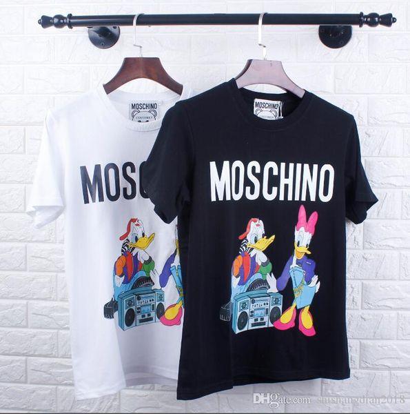 Sommer italienischen Designer neue Cartoon Tierdruck Rundhals Shirt Männer und Frauen mit dem gleichen Absatz Kurzarm-T-Shirt M-XXL