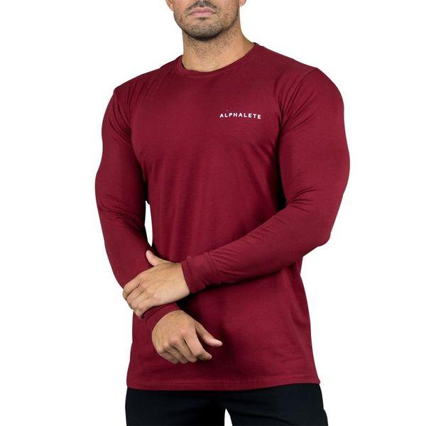 NANSHA Nueva moda Nueva moda Gimnasios Culturismo Camisetas deportivas Hombres Manga larga Fitness Hombres Sólido Camisetas de alta calidad