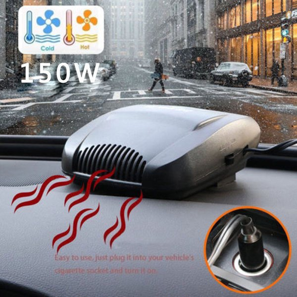 Universal 12V car Auto Air Heater Electric Heating Fan Demist & Defrost Noise-free Warm Air Blower car hot fan