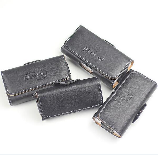 Universal carteira de couro pu coldre horizontal tampa da caixa do telefone bolsa bolsa de cintura com clipe de cinto para iphone x xs max xr 7 8 plus 3.0-6.0 polegada