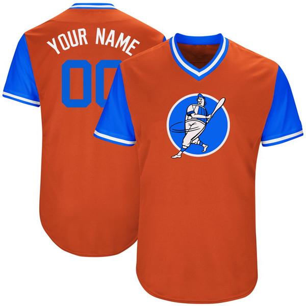 Custom Mens Baseball Jerseys N'importe quel nom N'importe quel numéro Cousu Broderie Chemises Personnalisées Custom Store Pas Cher En Ligne B019