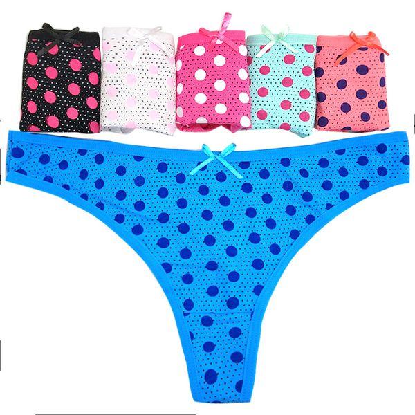 Fashion Spot printed cotton lady's underwear panties Hot Sexy Girl Bikini Candy Panties G-string Thongs
