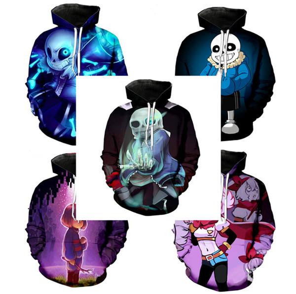 New Undertale Sans Hoodies Coat Cosplay Costume pattern 3D Printing fashion men women hoodies sweatshirts tops DHL ELE383
