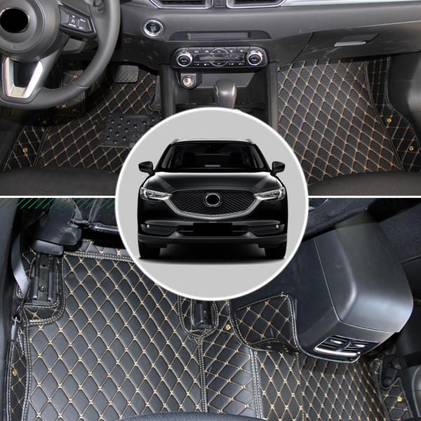 Car Styling 1SET Intérieur En Cuir De Voiture Tapis De Sol Pied Tapis De Couverture pour Mazda CX-5 CX5 2017 2018