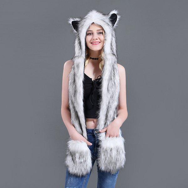 white fox hair-100c m