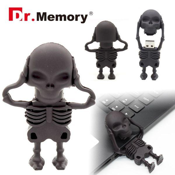 Dr.Memory USB Flash Drive Cool 64 GB/32 GB/16 GB/8 GB USB 2.0 64GB/32GB Skeleton USB Flash Memory Pen Drive Stick Pendrive
