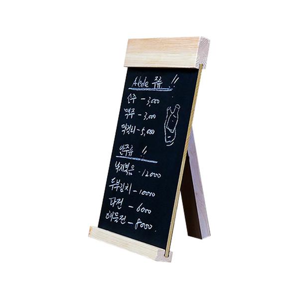 top popular Desktop Message Blackboard Wood Easel Chalkboard Wooden Memo Black Board Collapsible Writing Boards Countertop Menu Billboard 2021