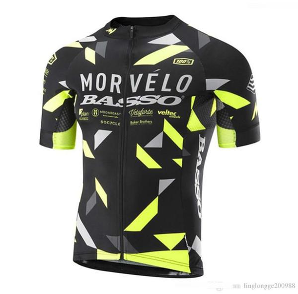 2019 morvelo Erkekler kısa kollu Anti_Pilling bisiklet forması Bisiklete binme formaları mtb döngüsü bisiklet sadece gömlek bisiklet giyim Bisiklet Sportswe