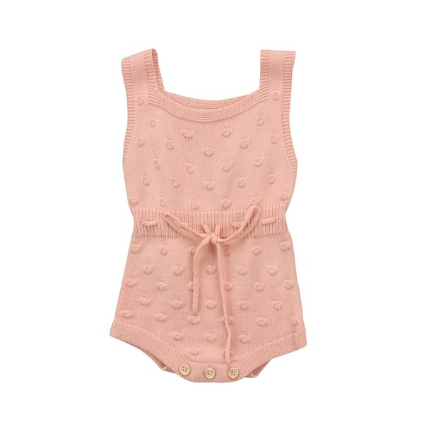 New Lovely Newborn Baby Girls Clothes Sleeveless Knitting Romper O-Neck Jumpsuit Outfits Clothes