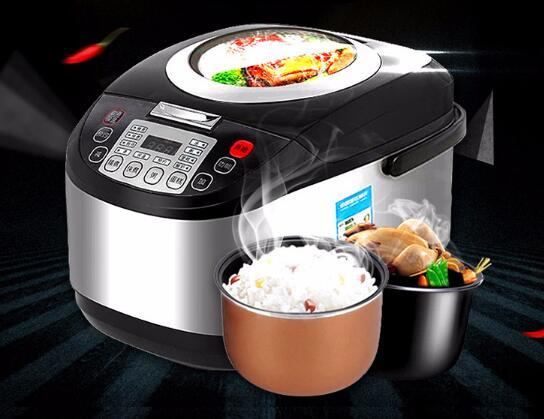 best selling 5L rice cooker rises 4-6 people large capacity smart sunroof household rice cooker factory will sell gifts