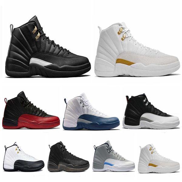 Compre Nike Air Jordan 12 S Zapatos De Baloncesto Para Hombre Zapatillas De Deporte OVO White Gym Rojo Oscuro Gris Mujer Baloncesto Taxi Blue Suede