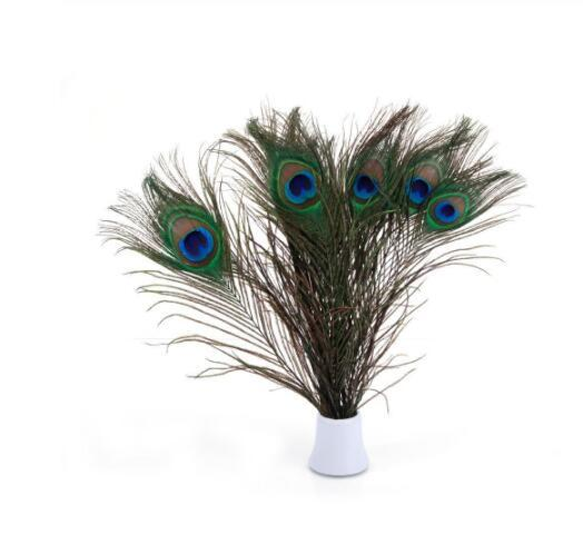 Natural Real Peacock Feathers For Crafts 90-100CM dress is with Home Hotel decor room vase Wedding decoration plumes GB838