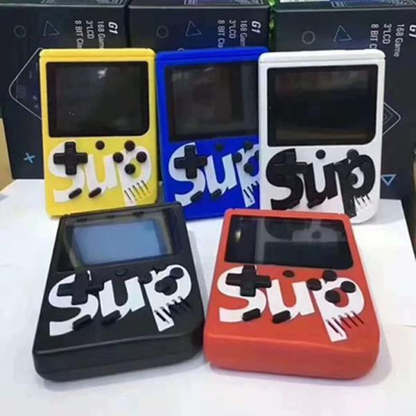 400 en 1 SUP Mini consola de juegos portátil La consola de juegos portátil retro puede almacenar 400 juegos 8 bits 3.0 pulgadas LCD cuna