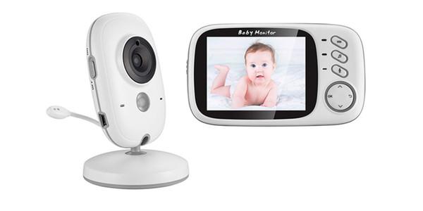 VB603 Bebek Monitörü Renkli kablosuz video 3.2 inç yüksek çözünürlüklü gece görüş sıcaklık izleme bebek Dadı güvenlik kamera