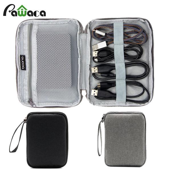 Travel Electronics Сумка для хранения сумок Органайзер для питания Жесткие диски Кабели USB SD-карта Серый черный Электронные аксессуары