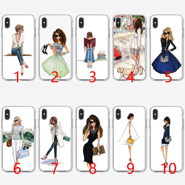 Traveling Beautiful Bikini Girl Soft Silicone TPU Phone Case for iPhone 5 5S SE 6 6S 7 8 Plus X XR XS Max Cover