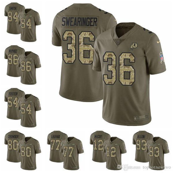 new products 5099b aa6e1 2019 Washington Limited Football Jersey Redskins Olive/Camo 2017 Salute To  Service 11 Alex Smith 8 Kirk Cousins 72 Eric Fisher 26 From Jerseyptb15, ...