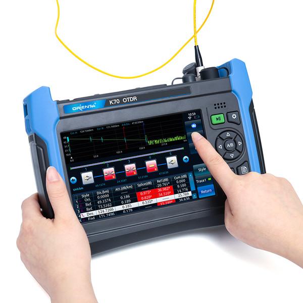 Extremidade 1310 / 1550nm 32 / 30dB de Orientek K70 OTDR com OPM VFL, domínio de tempo óptico Reflectometer, Singlemode OTDR