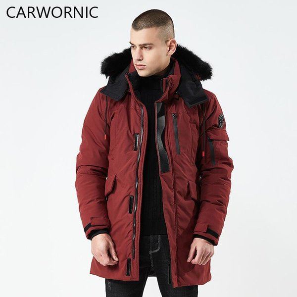 CARWORNIC New Winter Jacket Men Fashion Quality Polyester Windproof Thick Jacket Male Warm Soft Brand Clothing Hooded Coats