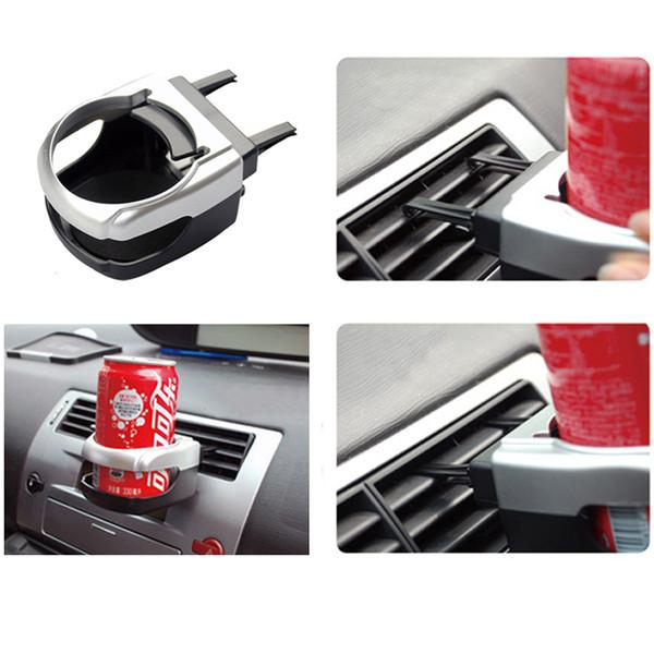 Vendita calda Argento Bottiglie di Acqua Posacenere Auto Staffa Auto-styling Universal Drink Cup Supporto Del Camion Porta Montaggio Stand Bevande Titolari DH0968-2 T03