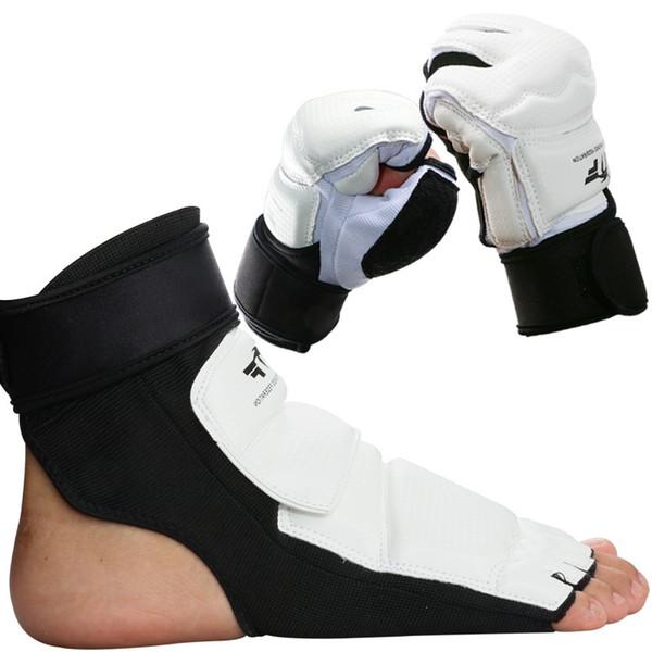 2016 Nouveau 1 Paire Taekwondo protège-pieds gants de protection garde XS S M L XL Taille Karaté Protecteur De Main MMA pied Spar Gear garde # 185659