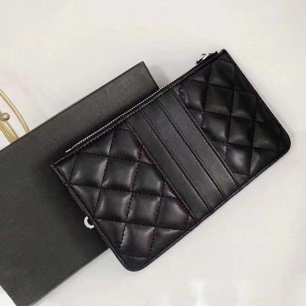 Новый 2019 мода буква C черный мини-кошелек с кронштейном известный логотип черный P