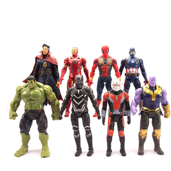 2019 New Avengers 4 Avengers Endgame Action Figures Toys Marvel Thanos Iron  Man Captain Marvel Hulk Captain America Model Doll Kids Toys C21 From