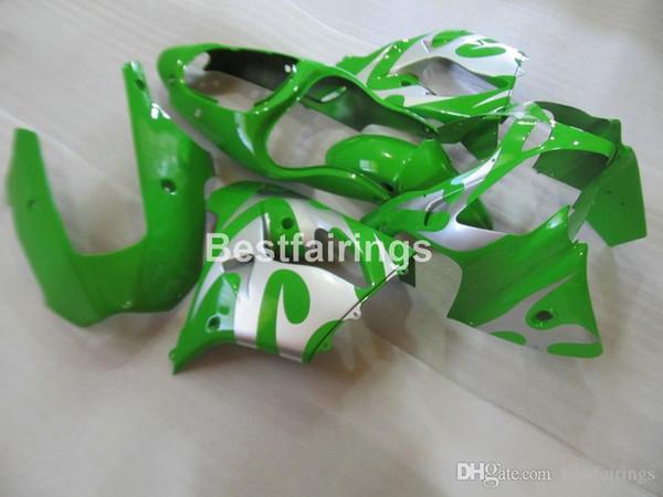 Aftermarket body parts Fairing kit for Kawasaki Ninja ZX9R 2000 2001 green silver motorcycle fairings set ZX9R 00 01 JK26 +7Gifts