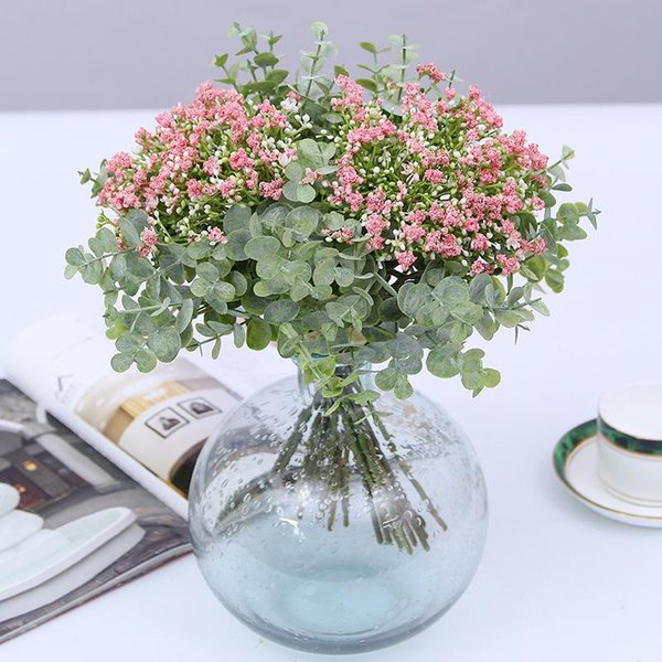 225 & 2019 Artificial Flowers Baby Breath Decorative Fake Plants Eucalyptus Bouquet Home Decor Party Suppliers Artificial Flowers For Vase From ...