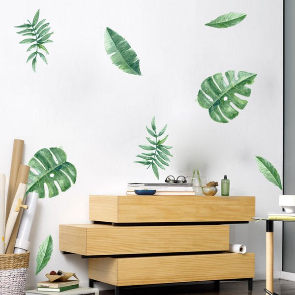 DIY Home Window Decoration Wall Decoration Living Room Bedroom Party Spray  Painting Tropical Plant Wall Sticker Window Polka Dot Wall Decals Pretty ...