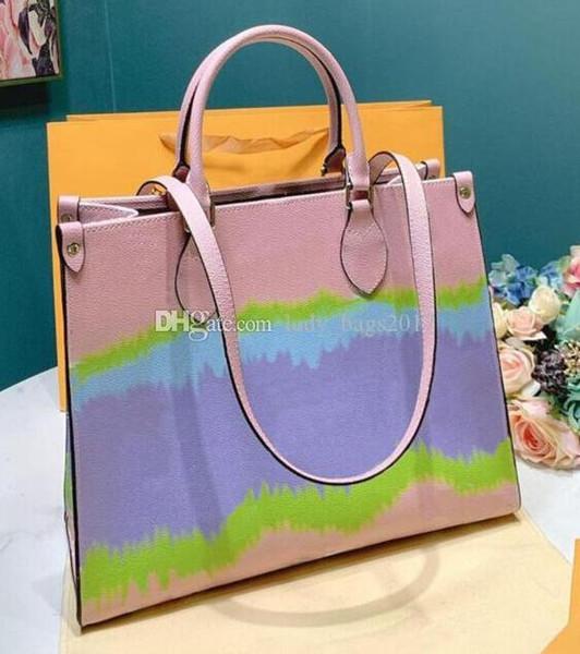 top popular Classic Cloud Rainbow Contrast Color Handbags Shopping bags Shoulder Bag Beach bags Real Leather Crossbody Purse Messenger Handbag 2020